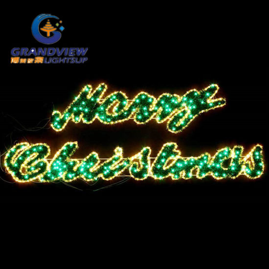 large 2m led merry christmas sign motif led warm white rope lights