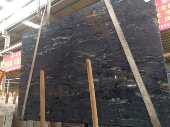 China Laying Cosmic Black Titanium Granite Pavingpatio Slabs