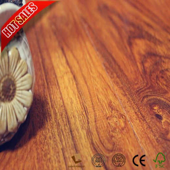 China Hdf E1 Wood Grain Surface Non Slip Laminate Flooring China