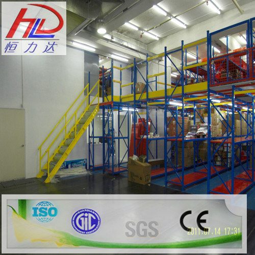 Ce Approved Adjustable Mezzanine Warehouse Storage Shelf pictures & photos
