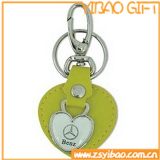 Heart Shape Leather Keychain for Shop Wholesale (YB-LK-02)
