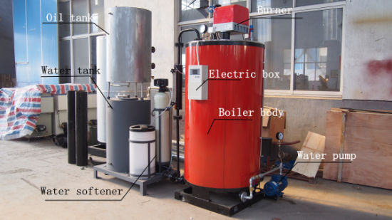 China 200kg/H Vertical Gas/LPG/Diesel Oil Fuel Steam Boiler with Ce ...