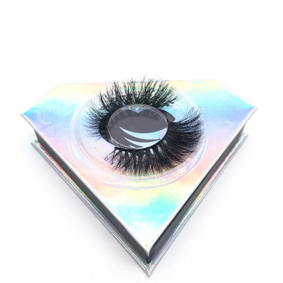 Holographic Diamond Eyelashes Box with Your Own Logo Name