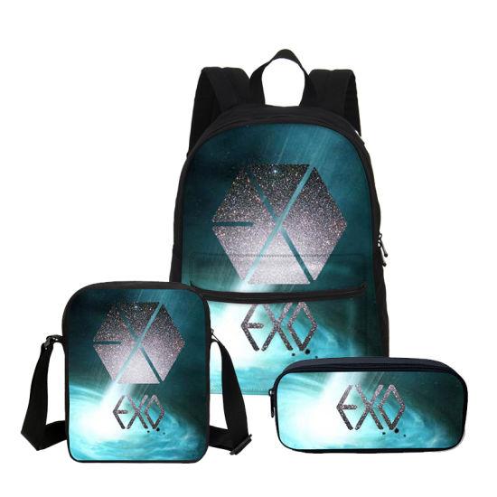 2107f0c15108 Canvas School Bag Exo Letter Printed Backpack Children Shoulder Bag Fashion  Mochila Girls Bookbag Boy Backpack - China Boy Backpack