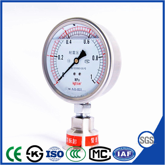 "2.5"" Shock Proof Stainless Steel Pressure Gauge with Liquid Filled"