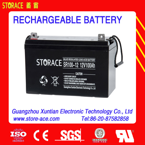 Valve Regulated Rechargeable Battery 12V100ah pictures & photos