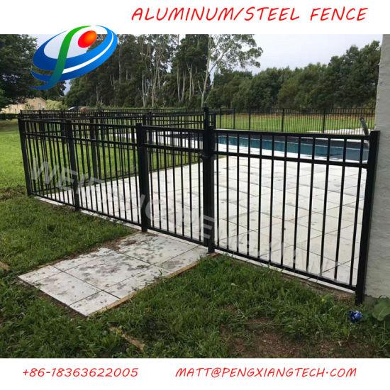China High Security Black Aluminum Flat Top Pool Fence For Usa Ca Au