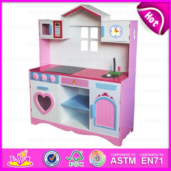 Kitchen House Pink Smart Wooden Kitchen for Kids, Children ...
