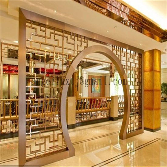 Round Stainless Steel Screen Door Chinese Style Anti