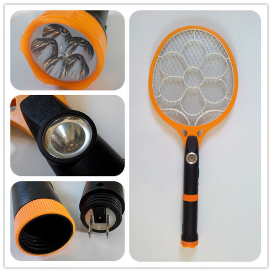 Good Quality Rechargeable Mosquito Swatter with Torch pictures & photos