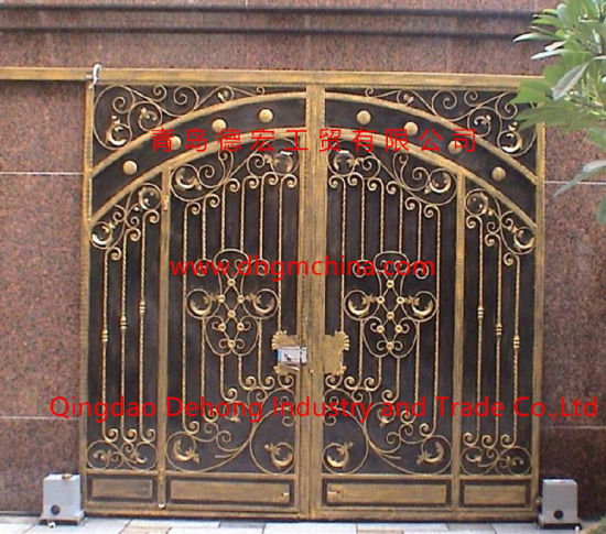 House Decorative Automatic Sliding Aluminum Entrance Gate