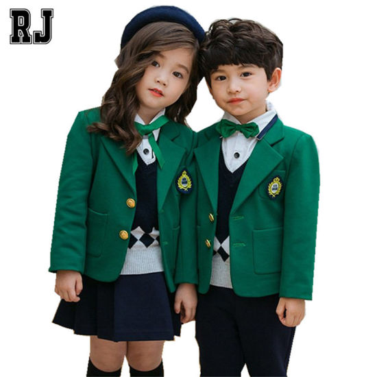OEM School Uniforms Student Suit Wholesale England Baby Clothes Primary School Uniform Design pictures & photos