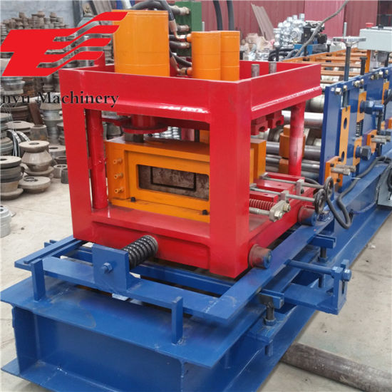 High Speed Automatic C Channel Profile Purlin Panel Cold Roll Forming Machine