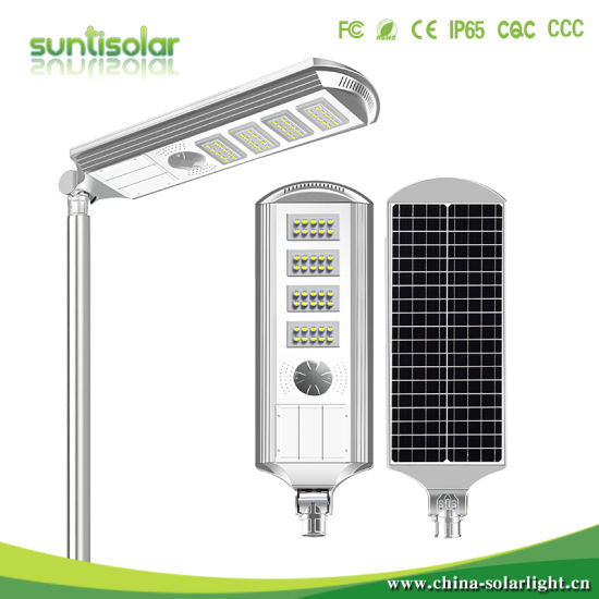 Ce RoHS IP66 Waterproof PIR Motion Sensor Solar LED Street Lamp