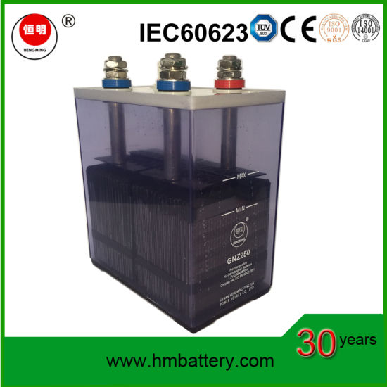 220VDC Nickel Cadmium Battery NiCd Battery Rechargeable Storage Battery Gnz250