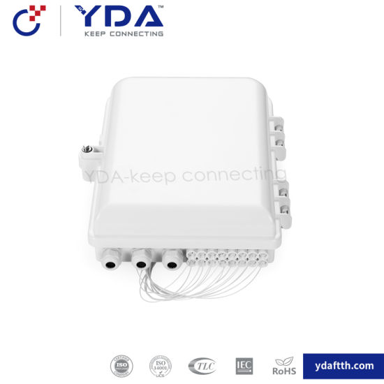 FTTH IP65 Outdoor Box Fiber Optic Plastic Box 1-24 Core Fiber Optic Distribution Box