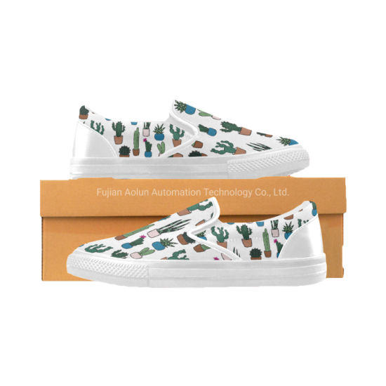 Custom Newest Unisex Slip-on Travel Painted Canvas/Loafer/Flat Shoes, Good Quality, Wholesale