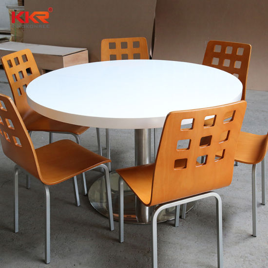 China Marble Top White Square And Round Solid Surface Dining Tables China Dining Tables Solid Surface Dining Tables
