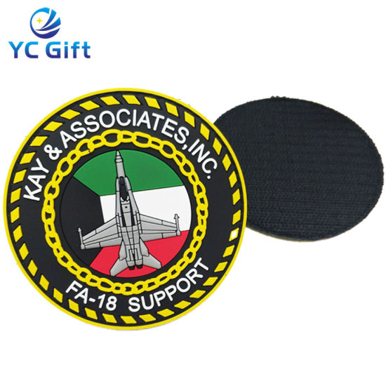 Customized Army Military Tactical Gear Garment Accessories Embroidered PVC Rubber Fabric Patches Iron on Patch Key Tags with Logo (PT28)