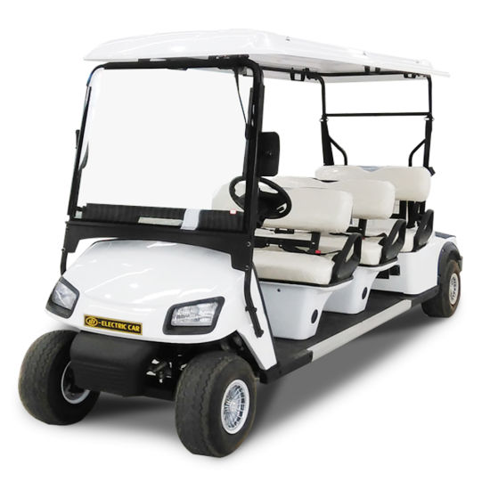 6+2 Seater Utility Electric Classic Shuttle Sightseeing Golf Car with Ce SGS