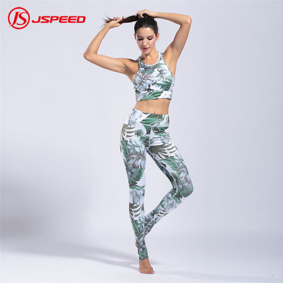 New Design Ladies Sportswear Tropical Style Sport Suit for Women