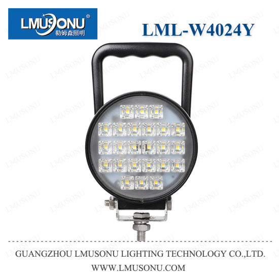 Lmusonu New Waterproof 4024y 36W Round 4.3 Inch Portable LED Work Light Lamp EMC with Original Osram with Switch for 4X4 Offroad