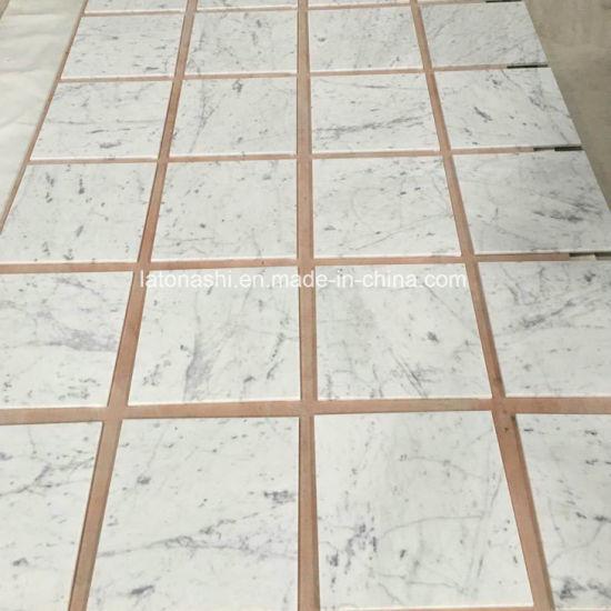 China Polished Italy White Marble Floor