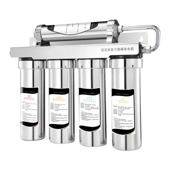 304 Stainless Steel Alkaline Water Purifier 5 Stage Counter Top Ss UF Water Filter