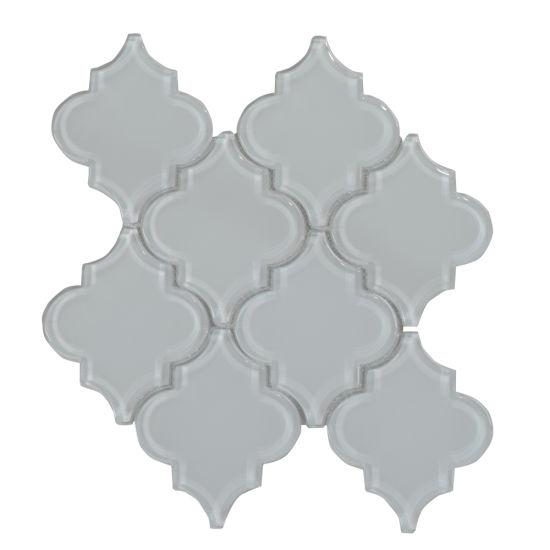 Wall Decoration Backsplash Loose Gl Arabesque Mosaic Tile