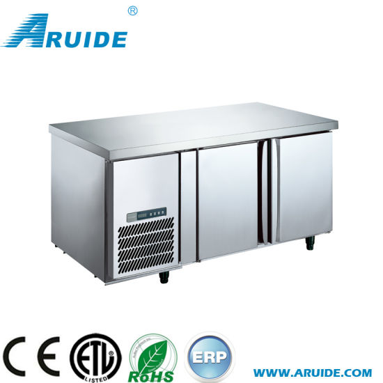Hot Sale 2 Door Stainless Steel Refrigerator Prep Table Fridge Pizza Counter Chiller China Counter Cooler And Worktable Cooler Price Made In China Com