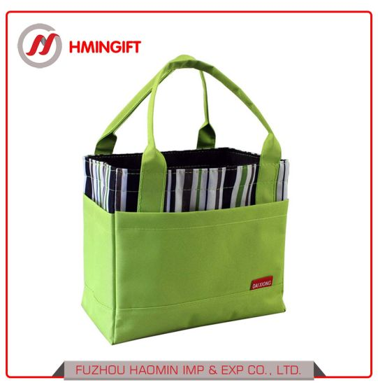 China Waterproof Heat Preservation Draw String Lunch Tote Bag Oxford