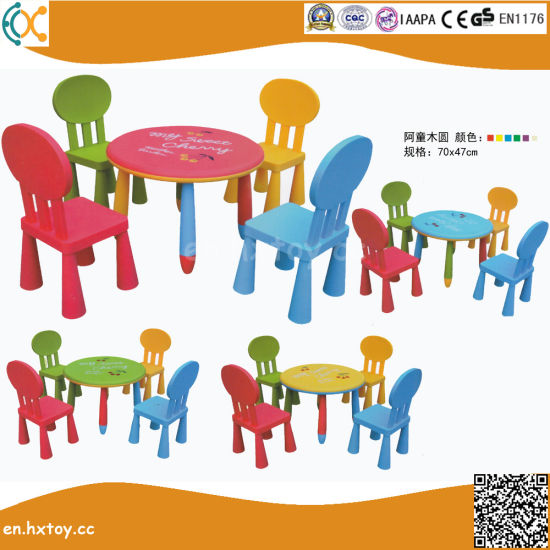 Preschool Plastic Round Table For Kids