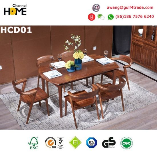 Wooden Oak Furniture Dinning Table and Chair (HCD02) pictures & photos