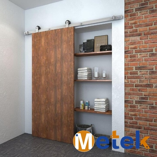 Price Effective Interior Sliding Barn Door Nickle Plated Sliding