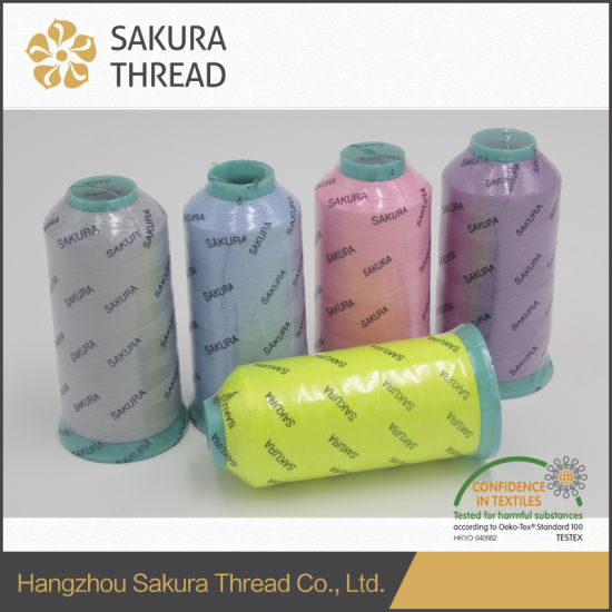 High-Elastic Polyester Luminous Thread for Embroidery/Knitting pictures & photos