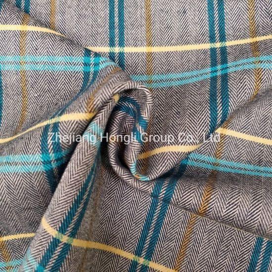 Yarn Dyed Tr Herringbone Checks Fabric for Garment