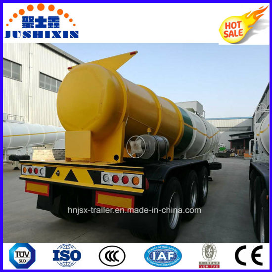3-Axle Carbon Steel Sulphric/Sulfuric Tank Semi Trailer for Chemical Corrosive Liquid pictures & photos
