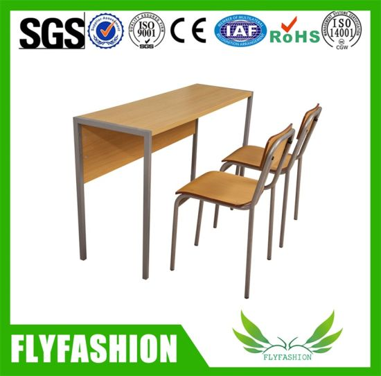 Wooden School Table Chair with Apron Classroom Furniture