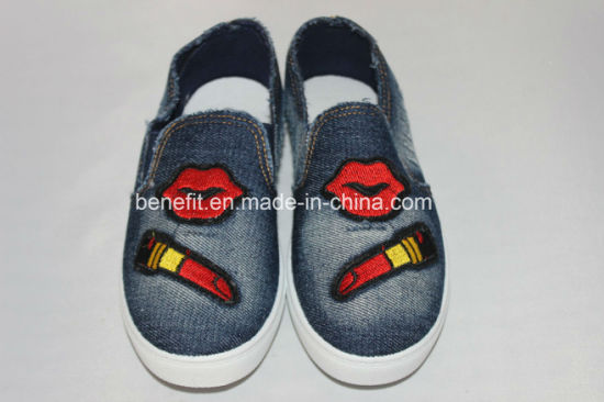 Canvas Shoes with Embroidery Decoration