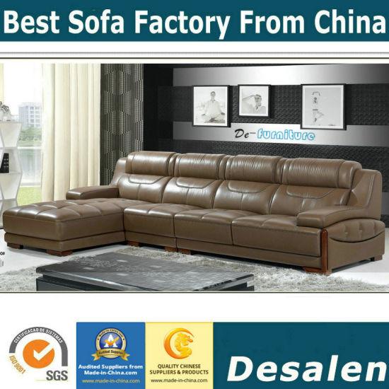 Best Quality L Shape Living Room Furniture Genuine Leather Sofa (A30)