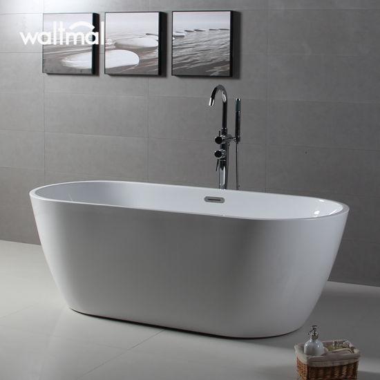 Cheap Cupc Approved Oval Narrow Thin Rim Acrylic Freestanding Bath Tub