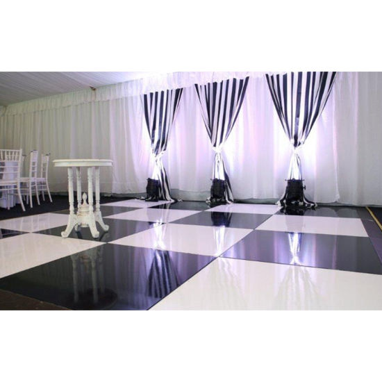 Portable Wood Dance Floor Black and White Wedding Dance Floor DIY
