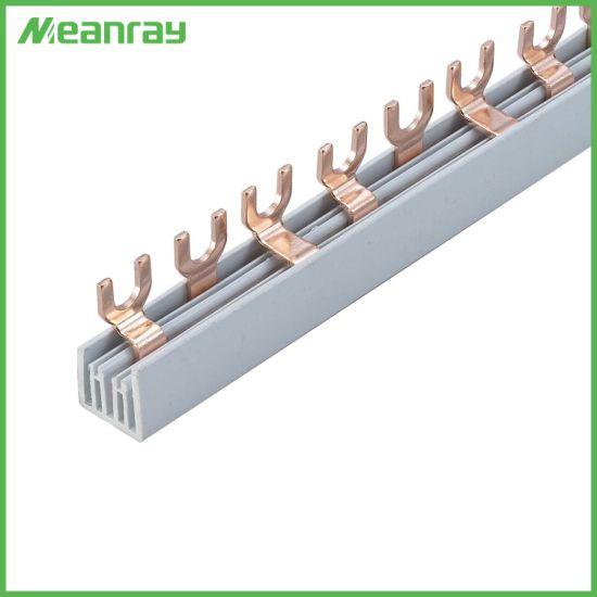 3p 80A Earth Electric Copper Bus Bar/Busbar Fork/U Type Bus Bar