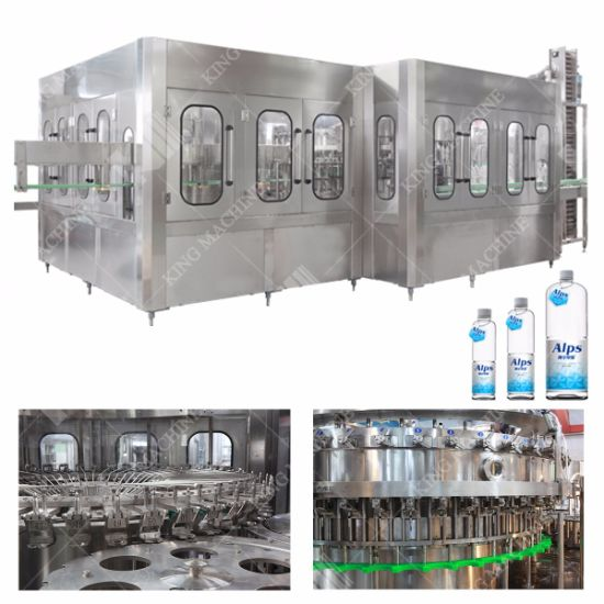 Bottled Water Washing Filling Capping 3 in 1 Machine