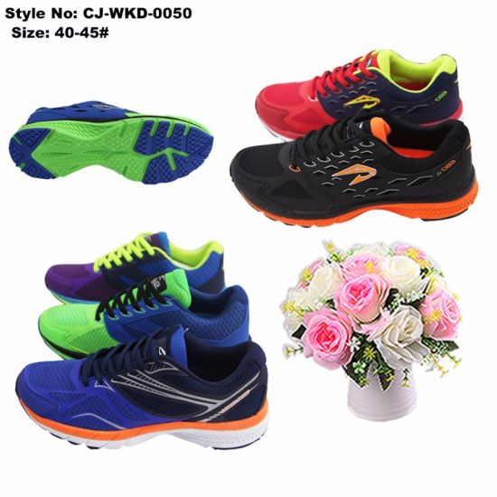 Jinjiang Factory Customized Breathable Sport Men Running Shoes pictures & photos