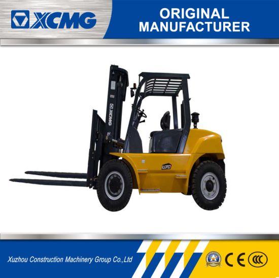 China XCMG 6 Ton Diesel Forklift Triplex 4.7m Mast for Sale - China ...