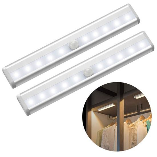 10 Leds Pir Motion Sensor Light Closet