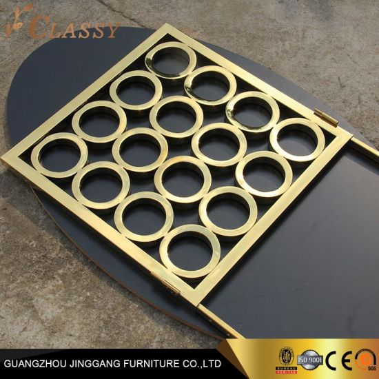 Decorative Partition Decorative Room Divider Golden Stainless Steel Metal Screen