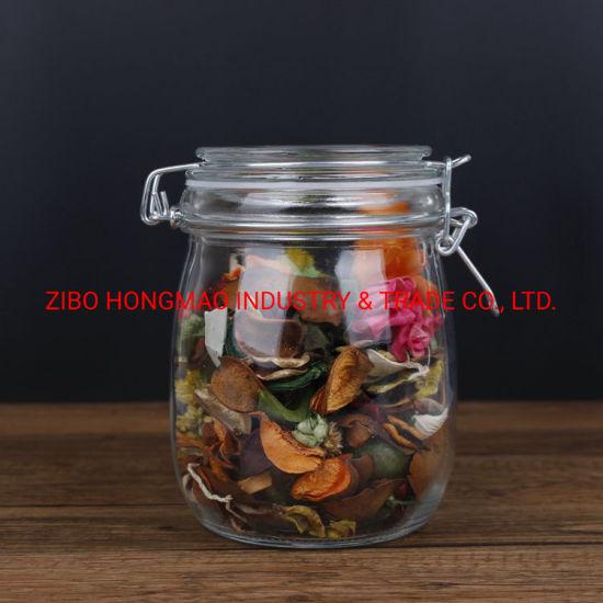 750ml Glass Honey Storage Jar Glass Clamp Top Jar