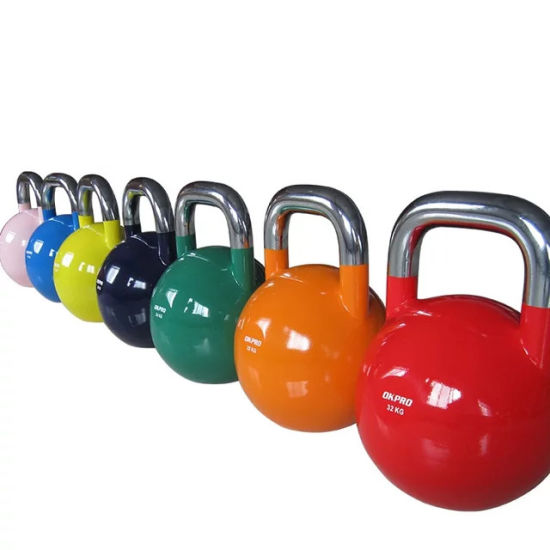 605055077501/6China Wholesale Top Grade Custom Logo Color Weight Competition Steel Kettlebell pictures & photos